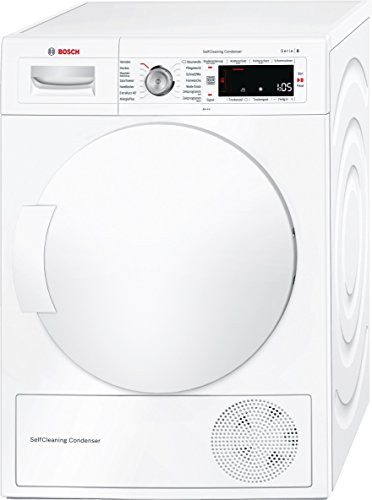 Bosch WTW845W0 Serie 8 Wärmepumpen-Trockner / A+++ / 176 kWh/Jahr / 8 kg / weiß / AutoDry / SelfCleaning Condenser / SensitiveDrying System