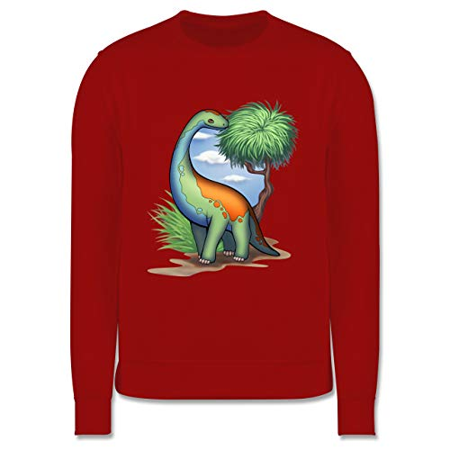 Shirtracer Tiermotive Kind - Dino - Langhals - 116 (5/6 Jahre) - Rot - Tier - JH030K - Kinder Pullover