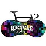 SFGSA Cubierta para rueda de bicicleta, cubierta para polvo interior al aire libre para bicicleta de montaña, bolsa de almacenamiento elástica para protección de viajes, estilo 2