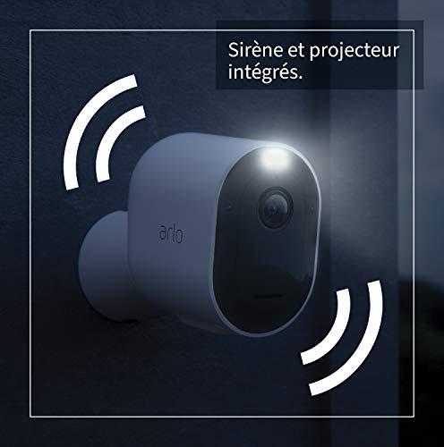 Arlo Pro3 Caméra de Sécurité WiFi, Pack de 2, 2K HDR, 160°,