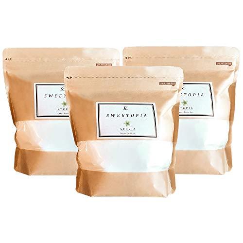 sweetopia(スイートピア) ステビア [ 800g×3個/甘味料/糖質ゼロ ] エリスリトール 天然甘味料 カロリーゼロ 糖質制限 ダイエットシュガー(砂糖の3倍の甘さ)