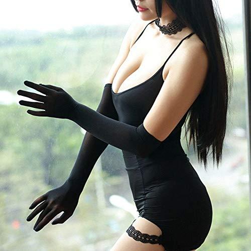 GBSTA Witte Handschoenen Sheer Naadloos lange Handschoenen betaalbare Glad panty's kousen betaalbare Zwart Wit Beige Grijs Zwart