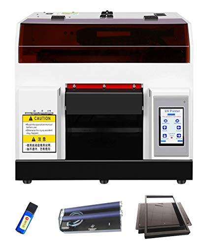 UV Flatbed Printer,A4 Automatic UV Printer with Touch Screen, Digital Printer for ID Card,Wood,Cell Phone Case,Glass Metal Surface Printing Machine