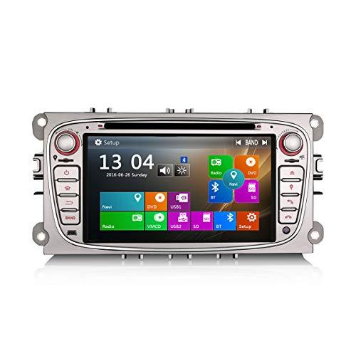 Erisin 7 Zoll Autoradio für Ford Focus Mondeo C/S-max Galaxy Multimedia Player mit USB SD Navi Unterstützt Bluetooth 3G DVD DVR Lenkradfernbedienung Radio DTV