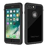 ORDTBY iPhone 7 Plus/8 Plus Waterproof Case, Underwater Full Sealed Cover IP68 Certified for Waterproof Snowproof Shockproof and Dustproof Case for iPhone 7/8 Plus - 5.5' (Black)