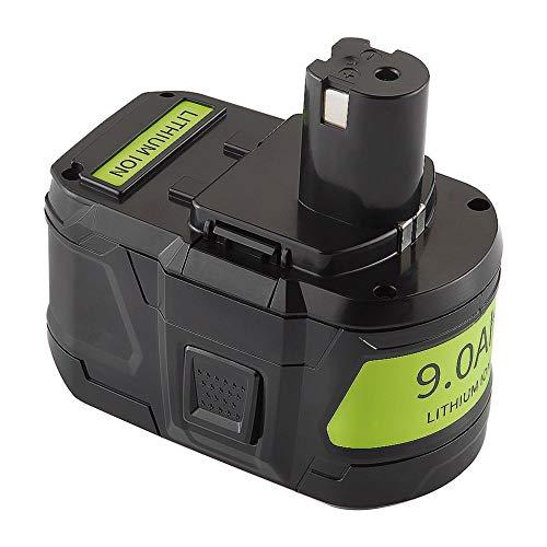 【Upgrade】 TenHutt 9000mAh 18V Replacement Battery For Ryobi 18V P100 P102 P103 P105 P107 P108 P109 Ryobi ONE+Plus Cordless Tool Lithium ion Battery
