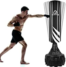 Figolo Freestanding Punching Bag with Suction Cup Base for Adult Youth,Heavy Boxing Bag with Stand,Kickboxing Bag   Black