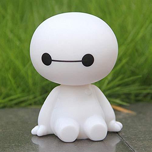 Qivor Cartoon Plastic Baymax Robot Shaking Head Figure Car Ornaments Auto Interior Decorations Big Hero Doll Toys Ornament Accessories