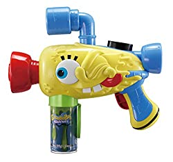 Lights and sounds. Fun SpongeBob styling. Shoots silly string. Compatible with standard size can. Comes with 1 can of silly string.