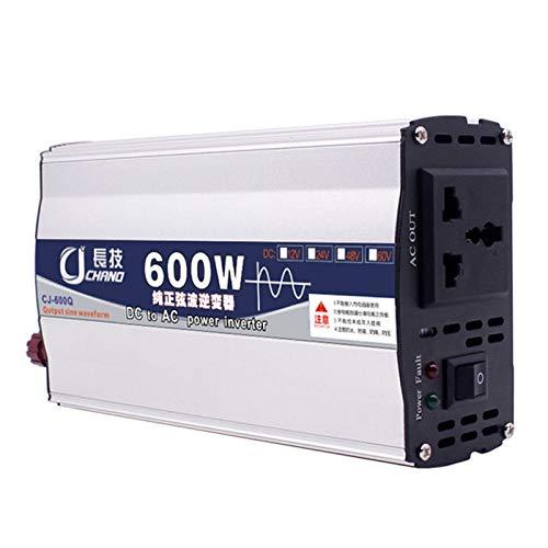 600W/1000W/2000W/3000W/4000W/5000W/6000W KFZ Spannungswandler, -Reiner Sinuswelle Wechselrichter DC 12/24/48/60(V) auf AC 220V Power Inverter Konverter mit Steckdose und USB-Anschluss Port,12v,600W