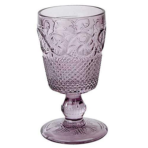 Katie Alice Luxuriou geprägte Glaskelche in verschiedenen Farben violett