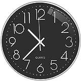 Lisedeer Reloj de Pared Redondo Moderno de Cuarzo silencioso de 30 cm,...