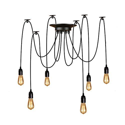 Lightsjoy Lampadario Industriale 6 luci lampadario Lampadina Prese Lampada a Sospensione Illuminazione Partito Ragno Fai da Te Accessori Macchina Fotografica Leggera Multipla Intrattenimenti