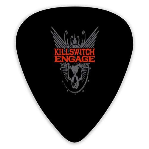 Killswitch Engage 6 coole Gitarren-Plektren für Ihre E-Gitarre, Akustik- oder Bassgitarre | X schwer, schwer, mittel und leicht | Pocket Box | für Mädchen und Jungen
