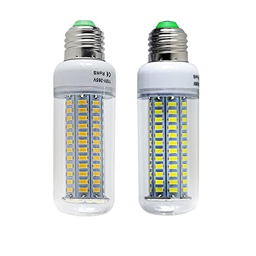 HHF LED Bulbs Lamps, 1Polla LED de la Bombilla LED E27 E14 B22 Super 25W Alta Potencia 110V 220V Inicio Iluminación SMD 5730 144 Leds Lámpara Blanco (Color : E14, Color emisivo : Warm White)