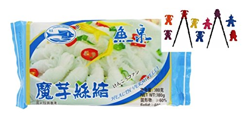 10er Pack FISH WELL [10x 400g / 190g ATG] Konjak Nudeln Shirataki für Sukiyaki aus Konjakmehl Konjac Vermicelli #1