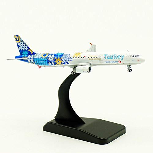 FJCY 11 cm 1: 400 Airbus A321 Modellfluggesellschaft mit Flugzeugen aus Fahrwerkslegierung