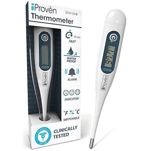 Digitales Fieberthermometer – Rektaler Babythermometer - Oralthermometer für Babys und Kinder - Fieberthermometer für Erwachsene -DT-R1221B mit Fieberanzeige – 2019 Hohe Qualität