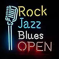 ネオンサイン(music)ネオン LED看板(Rock Jazz Blues Open Mikrofon) NEON SIGN Bar 開業 ネオンライト インテリア バー ディスプレイ LED 店舗用標識・サイン beer cheers 子供