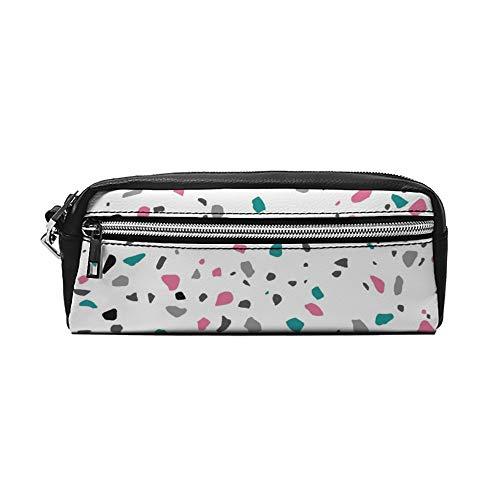 Abstract patroon tekening PU lederen etui make-up tas cosmetische tas potlood zak met rits reizen toilettas voor vrouwen meisjes