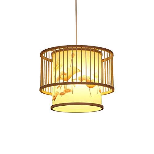 COCNI Luces Colgantes Tradicionales de Estilo japonés Retro Candelabros de Linterna de bambú Hechos a Mano salón de té Sala de Estar Pub lámparas Colgantes Restaurante Luces de Techo