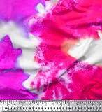 Soimoi Rosa Georgette Viskose Stoff Ombre tie-Farbstoff
