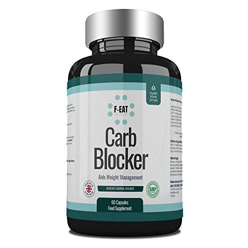 Carb and Sugar Blocker Capsules for Safe and Natural Weight Loss and Suppression of Hunger and Appetite - Ideal for Keto Diet