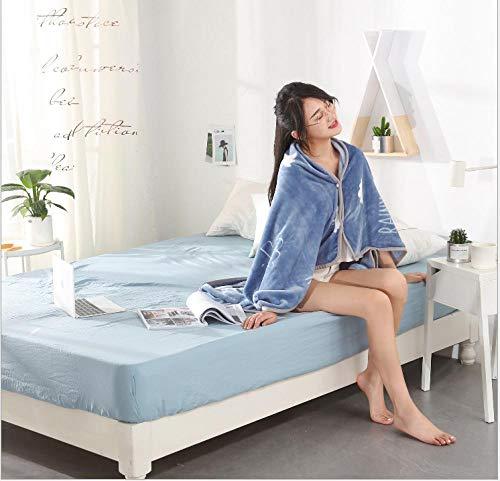 IRCATH eenvoudige ruiten – multifunctionele deken schattige deken voor thuis of op kantoor, casual deken, mode hemel enkele laag