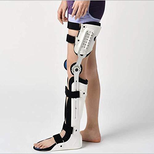 Rodilleras médicas Ajustable apoyo de rodilla, Rodilla Tobillo Pie Ortesis aparato fijo del muslo de la rodilla Rigidez en la articulación del tobillo del pie y tobillo Spport fijador, un tamaño, Left