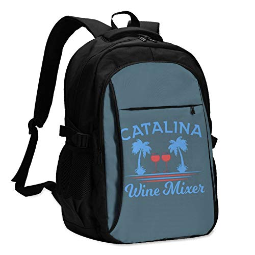 Catalina Wine Mixer Mans Women College Students Women & Men Backpack with USB Charging Interface Casual School Shoulder Bag