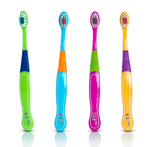 Clienis | Cepillo de dientes para niños de 3 a 6 años | Juego de cepillos de dientes para niños |...