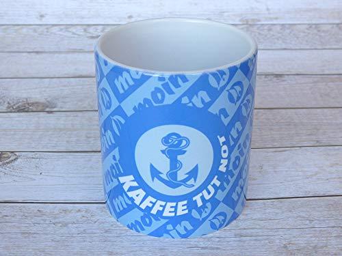 Kaffeetasse maritim aus Keramik, bedruckt mit
