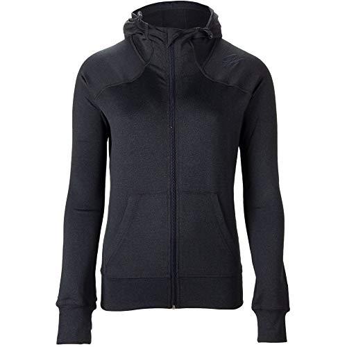 GORILLA WEAR Vici Jacket - schwarz - leichte Jacke mit Logo Aufdruck bequem zum Sport Alltag Freizeit Workout Training Atmungsaktiv aus Polyester Spandex mit Reissverschluss, XS