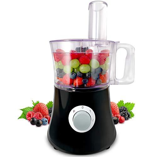 NETTA Food Processor - Multi-Use 500W Food Processor with 2 Speeds & 1.2L Mixing Bowl - Dishwasher Safe
