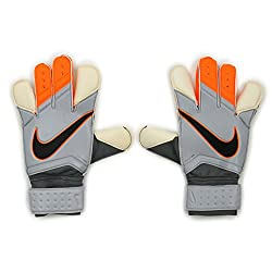 Orange, Grey and white Nike GK Vapor Grip 3 goalie gloves