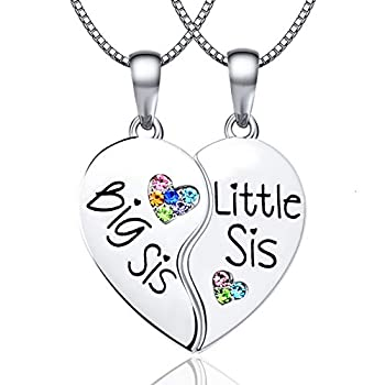 Best sister heart necklace Reviews