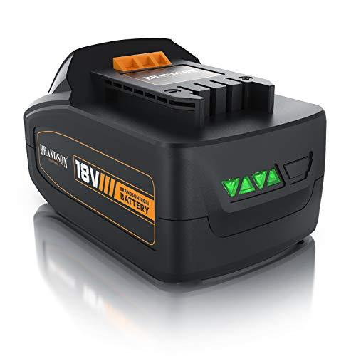 Brandson - Ersatzakku Li-Ion Akku 18V 4Ah - Überlastschutz, Kurzschlusssicherheit, Überhitzungsschutz, vierstufige Ladeanzeige, Schnellwechselsystem