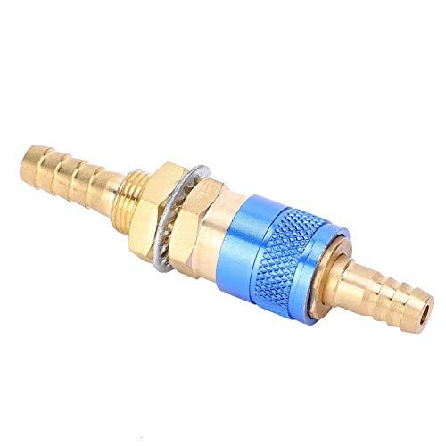 Schnellanschlussanschluss Massivmessing-Schlauchanschluss Gasadapter Schnellanschlussanschluss Wassergekühlter Schlauchanschluss für MIG-WIG-Schweißbrenner(blue)