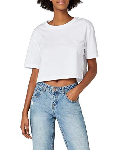 Urban Classics TB1555 Damen T-Shirt Ladies Short Oversized Tee Weiß, S