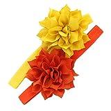 Mi Lello bebé diademas de flores de pétalos, colores mezclados 2 - Amarillo -