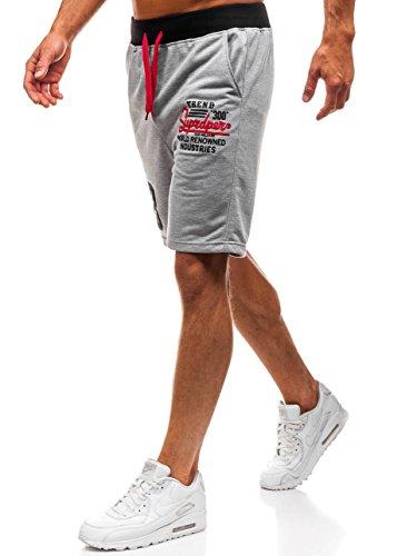 BOLF Pantaloncini Corti – Leggeri – Stampe - Stile Sportivo – da Uomo Extreme EX06 Grigi M [7G7]