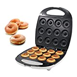 Máquina Para Hacer Donuts 1300W, Donut De 12 Mini Agujeros Bocadillo, Placas Calientes...