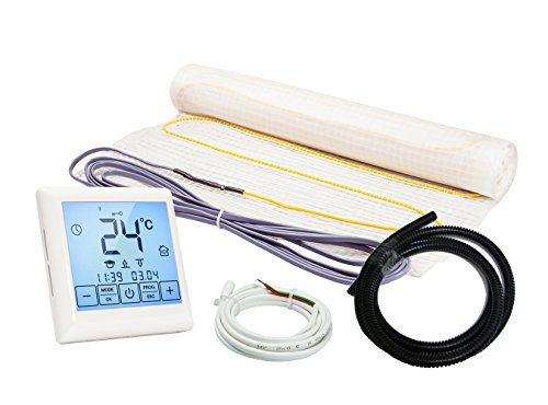 Elektrische Fußbodenheizung Komplett-Set NZ-160 Touch/Premium (1 m² - 0.5 m x 2 m)