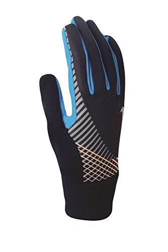 Nike Elite Storm Fit Tech Run - Guante para Hombre, Talla S, Color Negro y Azul