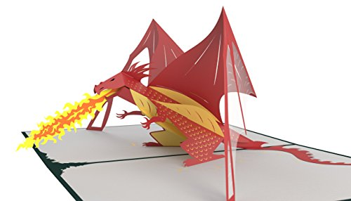 Lovepop Dragon Pop Up Card - 3D Card, Happy Father's Day Card, Dragon Pop Up Card, 3D Father's Day Card, Card for Dad, Card for Husband