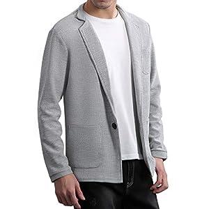 TOPSKY メンズ ジャケット テーラードジャケット スウェット ビジネス カジュアル 細身 ストレッチ 春 秋