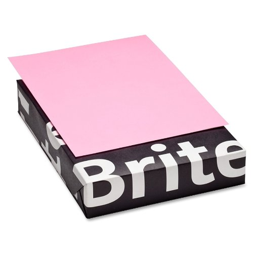 Mohawk BriteHue Ultra Pink 20 lb. 8.5x11 Inch Smooth Text Paper 500 Sheets/Ream (Sold as 1 Ream) (101311)