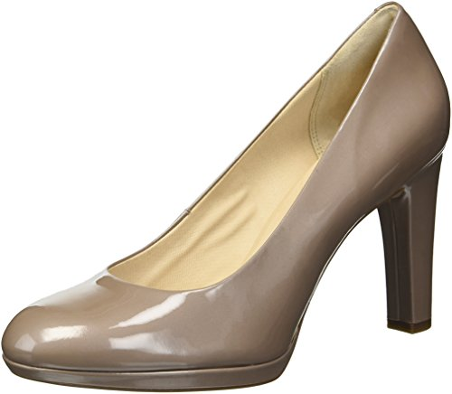 Rockport Women's Ally Plain Pump, Taupe Grey Patent, 10.5 M US