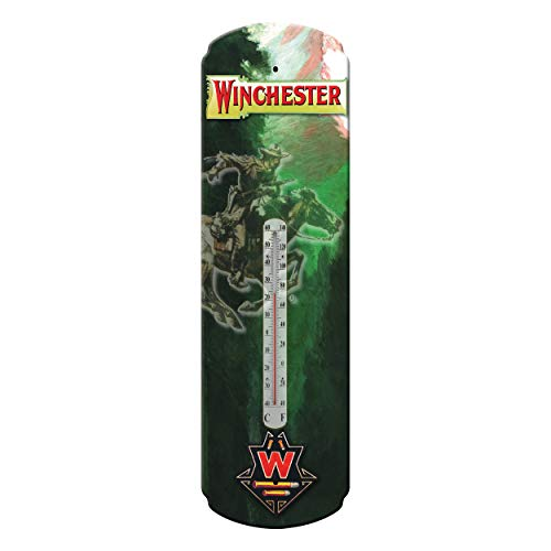 River's Edge Products Tin Thermometer - Winchester Rider