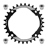 FOMTOR 30T Chainring 104 BCD Narrow Wide Chainring with Four Chainring Bolts for Road Bike, Mountain Bike, BMX MTB Fixie Bicycle (Black)